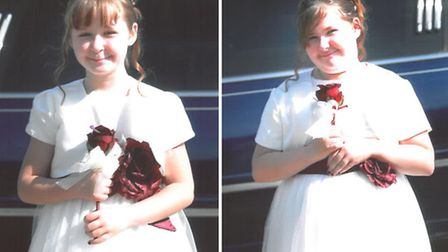 Sisters, (left to right) seven-year-old Jessica Portor and her sister ten-year-old Tamzin.