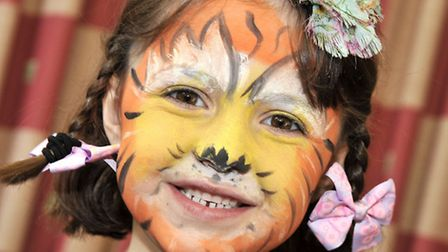 Bubbly Bugs Picnic. Chatteris. Gemma Carrick with her face painted.