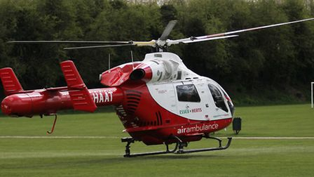 An air ambulance from Hertfordshire took the man to hospital