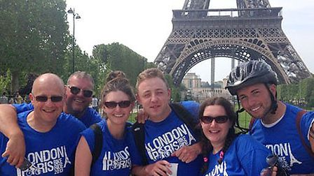 London to Paris charity cycle ride.