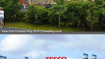 View of proposed new Chatteris Tesco
