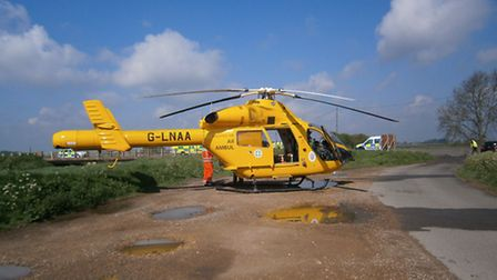 The Magpas helicopter