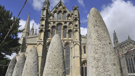 new statues at Ely Cathedral