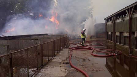 150 tonnes of straw went up in flames in Isleham