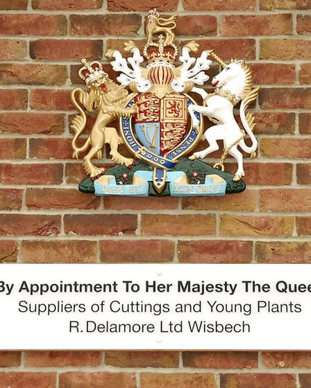 R.Delamore Ltd Wisbech with their Royal Warrant.