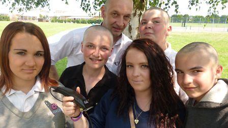 Ely College students braved the clippers for charity