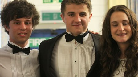 A group of pupils at the leavers dinner