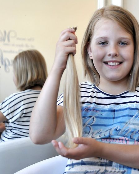 Jazmin Lewis has hair cut for Princess Trust, Raised over £600 for charity.