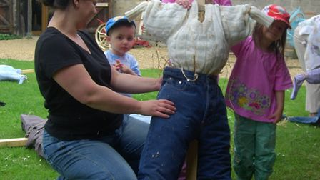 Scarecrow making at Denny Abbey