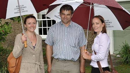 Cllr Rob Skolding with two FDC staff members.