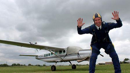 Richard Dykes will raise money for the Fire Fighters' Charity when he jumps from 13,000 feet.