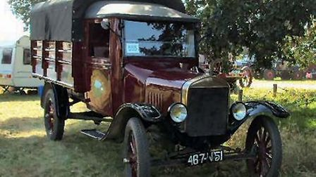 A 1920s Ford cattle truck