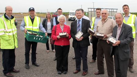 Tour of the new May Farm in Littleport by councillors from East Cambridgeshire District Council