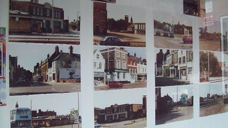 The photographic display to mark the Horsefair Shopping Centre's 25th anniversary.