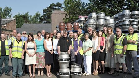 Elgoods Brewery, Wisbech. Keith Armstrong retires after 50 years working in the brewery.