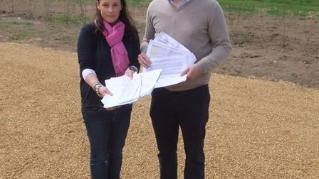 MP Steve Barclay with Michelle Boughton, the petition organiser