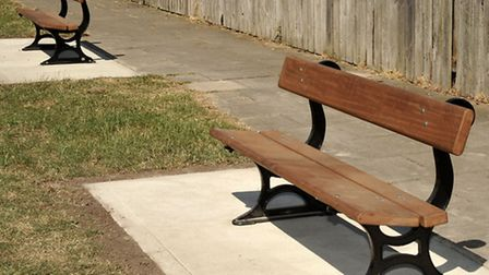 New benches unveiled at Spider park - Jasmine Close, Walsoken.