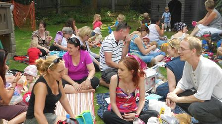 Children and their families gathered for the big toodle and teddy bear picnic