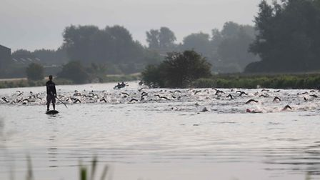 Swimmers in the River Great Ouse last year