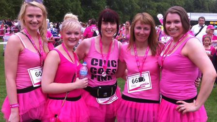 The Chic Face and Body team that took part in the Race for Life