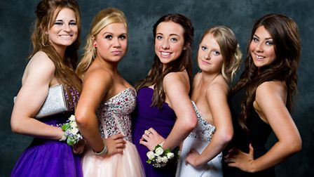 Students from Cromwell Community College pictured arriving at their prom. Picture: RYAN JARVIS PHOTO