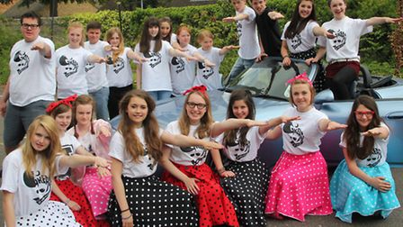 The cast of Viva Youth Theatre's new production of Grease