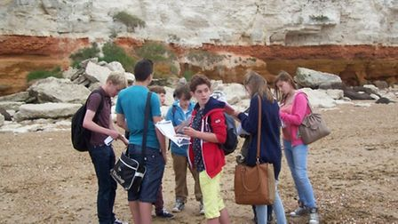 Witchford students enjoy the cliff and beaches in Hunstanton