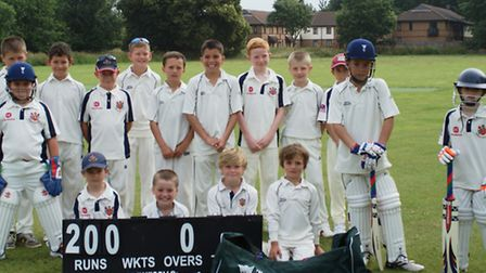 Pictured are players from both teams in the new Lords Taverners equipment.