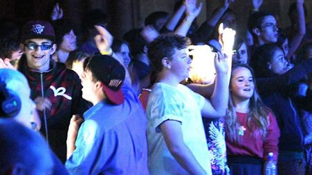 Hundreds of youngsters danced the night away at Rave in the Nave