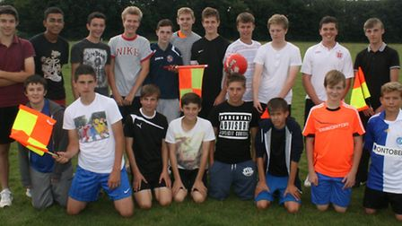 Young referees took part in the course.