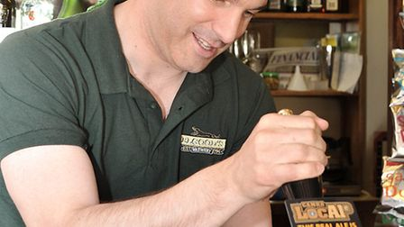 MP STEVE BARCLAY AT RED LION WISBECH.North East Cambridgeshire MP Steve Barclay was pulling pints be
