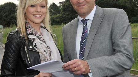 Neale-Wade GCSE results. Ellen Whyman and Jason Wing principal.