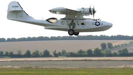 The Catalina takes off to start the Circuit of Britain flight