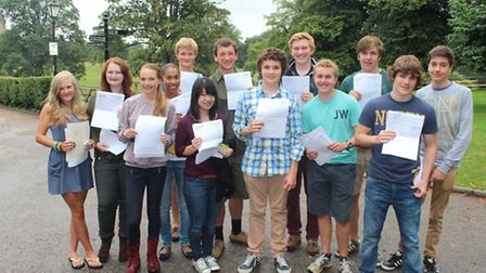 King's Ely pupils collect their GCSE results