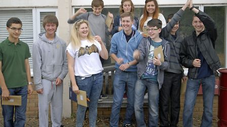 Ely College students collect their GCSE results