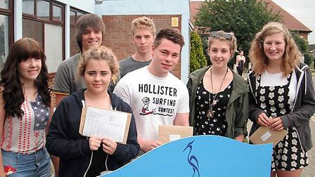 Marshland High results.BACK (LEFT TO RIGHT):-Jasmin Towler Ben CarterMatthew CooperFRONT:-(LEFT TO R
