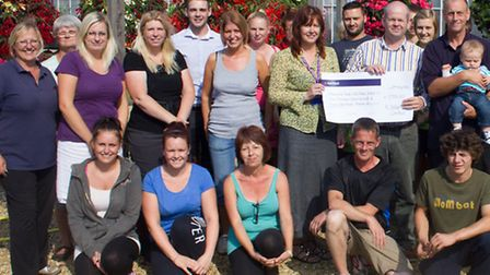 The Delamore staff raised nearly 8,000 in memory of Annette Atter