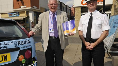 Police and Crime Commissioner Sir Graham Bright holding a street surgery with Chief Constable Simon