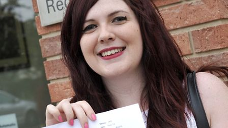 A level results at Thomas Clarkson Wisbech. Catherine Brooks.