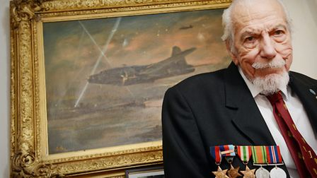 Ken Wallis was awarded the bobmer command medal for his efforts flying Wellington Bombers in WWII. P