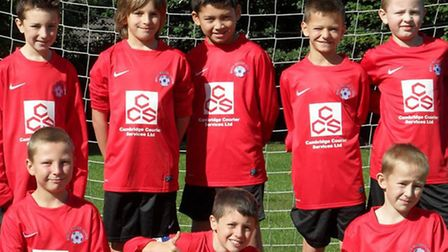 March Soccer School's under-10s with their new kit