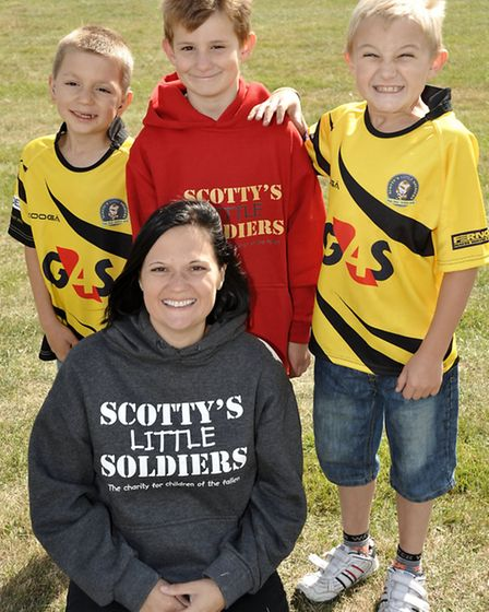 Scotty's little soldiers charity rugby game at the March Bears ground. Supporters Left: Kia Scott, N