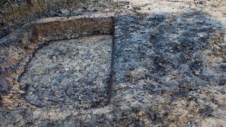 An excavation has taken place at the site