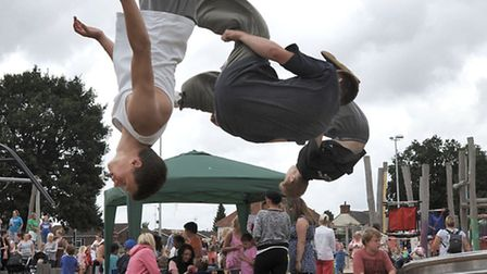 National play day. Wisbech Waterlees playground. Wisbech Parkour team.