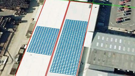 Greenvale's roof will look once solar panels are installed