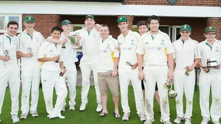 Chatteris II celebrate with the trophy