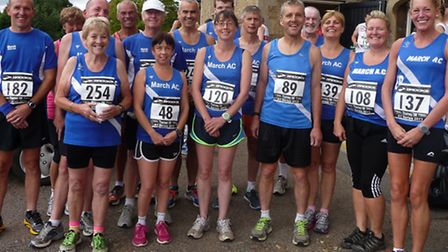 March AC runners at the Throney five mile road race.