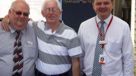 Greater Anglia's Dave Funnel, a long-term colleague of Richard's, Richard Angiers and Greater Paul S