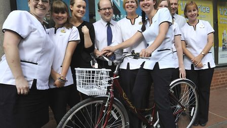 Boots store, Ely, are doing charity bike ride (front) Kirstie Whymer