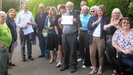 Members of the March Society during their Nene Parade evening walk and street audit.